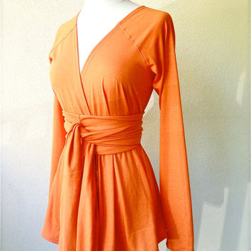 Long sleeve cardigan - pumpkin orange