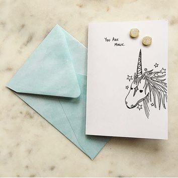 Magical Unicorn Card + Earrings