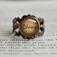 Always quote snape potter antique style BRONZE Ring