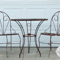Custom Vintage Bistro Table and Chair Set - Have it done your way