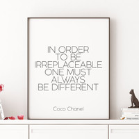 CHANEL PRINT Fashion Print,Fashionista, Quote Prints,Coco Chanel Quote,Chanel Poster,Chanel Wall Art,Inspirational Quote,Girls Room Decor