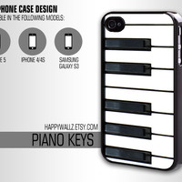 Piano Iphone Case Iphone 4 case Hipster Piano Keyboard Keys Iphone 5 case Iphone 4s case Samsung Galaxy S3 Case