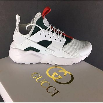 Best Online Sale Gucci x Nike Air Huarache 4 Men Women Mesh Hurache Sport Running Shoe