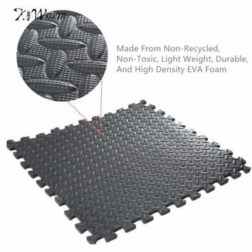 61*61cm EVA Foam Floor Interlocking Mat FOAM MATS Exercise GYM Puzzle Soft Floor Kids Play Room Yoga Mat Black