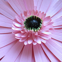 PINK GERBERA daisy - giant paper wall flower - wall art paper sculpture - Flower Taxidermy No.75