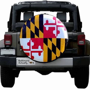 Baltimore: Actually I Love It with Baltimore Heart (Black) / Sticker