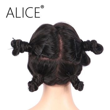 ALICE Peruvian Glueless Full Lace Wigs Body Wave 130 Density Natural Color Remy Human Hair Wigs Pre Plucked Hairline