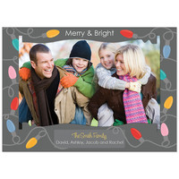 Christmas Cards - Stringing Up the Lights