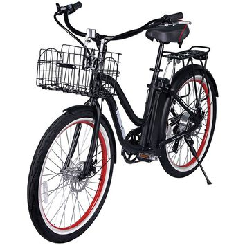 X-Treme Malibu Elite Step Through Beach Cruiser Electric Bike Bicycle Black NEW