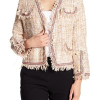 Know One Cares | Simulated Pearl Accented Tweed Jacket | Nordstrom Rack