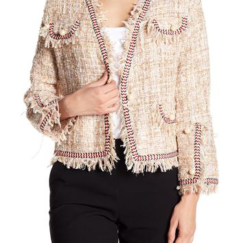 Know One Cares   Simulated Pearl Accented Tweed Jacket   Nordstrom Rack