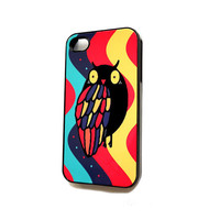 iPhone 4 / 4S Case  iPhone Cell Phone Cases Retro Groovy Owl iPhone Case Sale iphone4s
