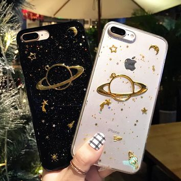 Gold Galaxy Phone Case