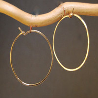 Hoop Earrings - XL - GOLD