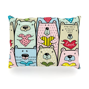"Snap Studio ""Bear Hugs"" Animal Illustration Oblong Pillow"