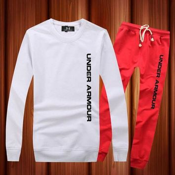 LMFON Under Armour Woman Men Long Sleeve Shirt Top Tee Pants Trousers Set Two-Piece