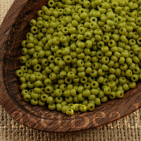 Czech Seed Beads size 11/0 (20g) Opaque Olive Green Preciosa Ornela Rocailles NR 286