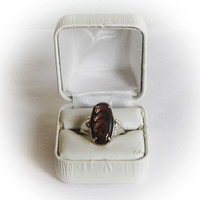 Sterling Silver Ladies Purple Passion Iridescent Abalone Shell Cabochon Fashion Ring