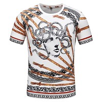 2019 new men's casual round neck pullover short-sleeved T-shirt