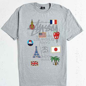 Stussy World Tour Flags Tee
