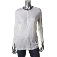 Rag & Bone Womens Cotton Slub Henley Top
