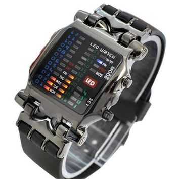 LED Square Dial Men Digital Sports Watch