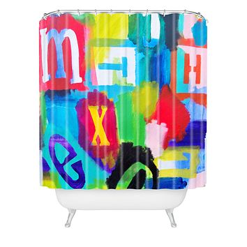 Natalie Baca Alphabet City 2 Shower Curtain