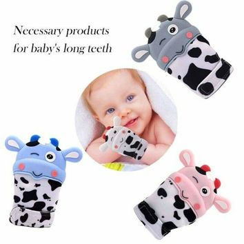Baby Kids Teething Mitten Self-Soothing Pain Relief Silicone Teething Gloves US