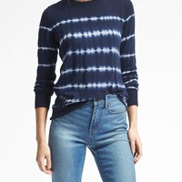 Merino Tie Dye Stripe Pullover Sweater | Banana Republic