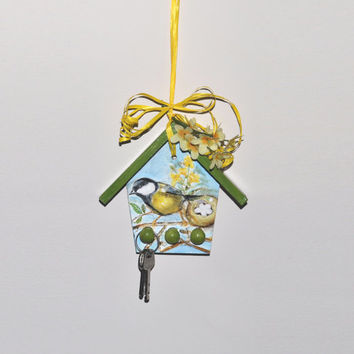 Hanging decoration, spring, wall hanging, wall decoration, spring decor, jewelry holder, romantic home, hanging decoration, jewelry rack