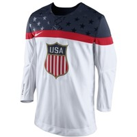 Nike Men's USA White Replica Hockey Jersey