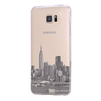 New York City Skyline Hudson River NYC Samsung Galaxy S6 Edge Clear Case Galaxy S6 Transparent Case Samsung S5 Hard Cover C0001