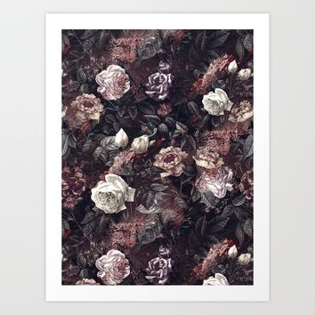 EXOTIC GARDEN - NIGHT III Art Print by burcukorkmazyurek