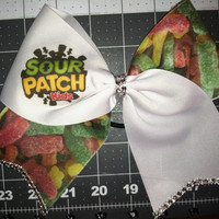 Sour patch kids Cheer Bow w/ BLING