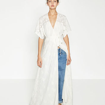 LONG CROSSOVER DRESS - View All-DRESSES-WOMAN | ZARA United States