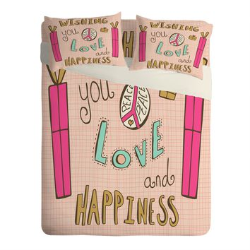 Heather Dutton Peace Love And Happiness Sheet Set Lightweight