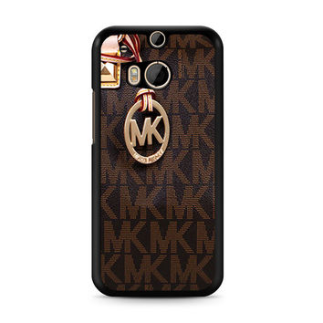 Michael Kors Logo Brown iPhone 5C HTC One M8 Case