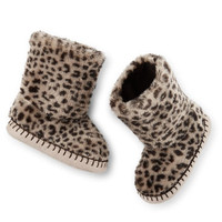 Carter's Cheetah Slipper Boots