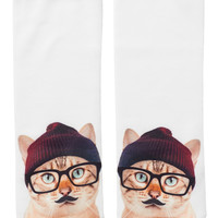 Monki | Socks | Cissi Sock Hipster Cat