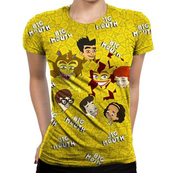 Big Mouth Collage Womens T-Shirt