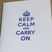 Keep Calm Cards Keep Calm and Carry On by RoyalRegards on Etsy