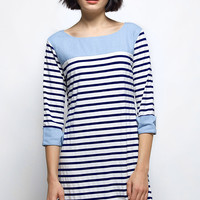 Cupshe Cuff Around The Edge Stripe Dress