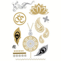 Namaste Metallic Tattoos Metal One Size For Women 25738709201