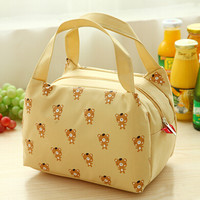 Animal Printed Canvas Lunch Bag