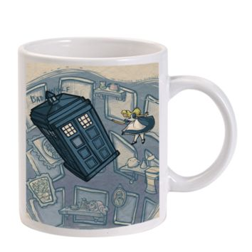 Gift Mugs | Alice And Wonderland Doctor Who Ceramic Coffee Mugs