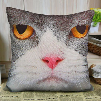 Decorative velvet pillow cushion cover animal Cat design double sides/home decor/optional sizes