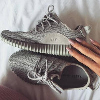 """Adidas"" Women Yeezy Boost Sneakers Running Sports Shoes green"
