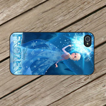 Frozen Disney Elsa for iPhone 4/4s Case - iPhone 5 Case - Samsung S3 - Samsung S4 - Black - White (Option Please)