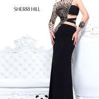 Sherri Hill 21002 One Sleeve Pageant Dress