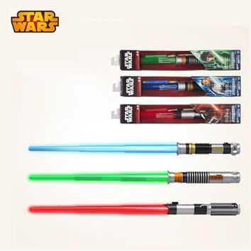 High Quality Star Wars Lightsaber Telescopic Light Saber Star Wars 7 Weapons Sword with Light and Sounds Figure Toys